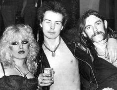 Nancy Spungen, Sid Vicious, and Lemmy Kilmister #rock #music \m/ #rockstar