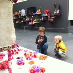 Look at these cutie pies playing with our free audio tour in the Phantoms exhibition. Being your cutie pies tmw to our Family Fun Day. Kids 12 and under always get in free. Http://www.asianart.org