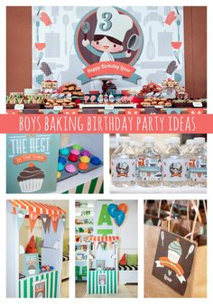 Adorable Baking Party Ideas for Boys - Pretty My Party #theme #party #baking #boys #birthday
