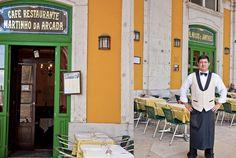Cafe Martinho da Arcada - Lisbon, Portugal  Praça do Comércio 3 1100-148 Lisbon, Portugal It's al Lisbon Legend, von 1778