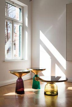 Table d'appoint Bell Side / Ø 50 x H 54 cm Vert émeraude / Laiton - ClassiCon