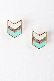 Francesca's Collections - Indio Chevron Studs in Mint