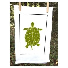 Green Sea Turtle Kitchen Towel