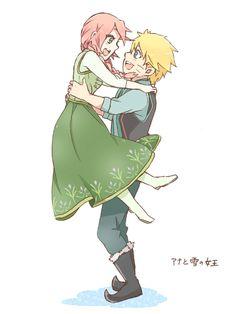 Naruto x Disney's Frozen, by 菜華