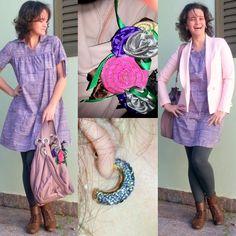 blog v@ LOOKS   por leila diniz: VESTIDO HERING LILÁS e rosa (gêmeo do post anterior) no look do dia + Frappuccino + DEUS