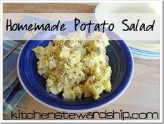 Homemade Potato Salad, Simple Real Food Style :: via Kitchen Stewardship