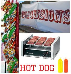 DIY concession stand...we're having concessions stand food for his party...gotta check this out!
