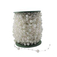 AerWo Fishing Line Pearls Chain Pearl Beads Garland Wedding Decor Centerpiece flower table (White, 10M), http://www.amazon.com/dp/B00XP8ELD6/ref=cm_sw_r_pi_awdm_zDyKvb0X6PSQN
