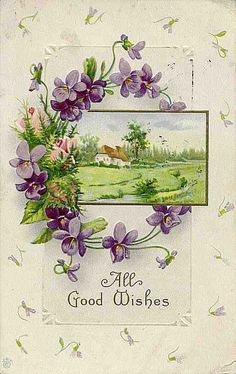 birthday wishes, greet card, jigsaw puzzl, birthday greetings, violet, vintage birthday cards, vintag birthday, greeting cards, a tattoo