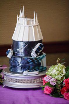 Disney Wedding Cake Disney Wedding Space MountainPhoto by White Rabbit Photo Boutique