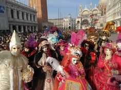Carnevale di Venizia, an annual festival which takes place before Lent, usually in February or March.