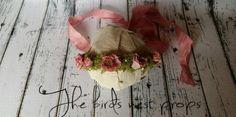 Organic flower tie back.  Newborn and children photography prop
