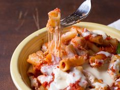 The secret to great baked ziti? Drop the ricotta, and add parmesan cream instead! #recipe #italian #pasta #comfortfood