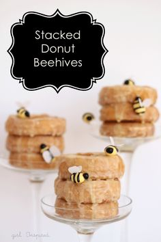 How to Make Edible Bees and a Donut Beehive - so fun!