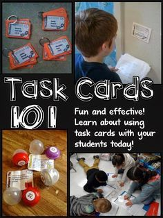 Corkboard Connections: Task Cards 101 - Guest blog post by Rachel Lynette of Minds in Bloom with strategies for using task cards in your classroom.