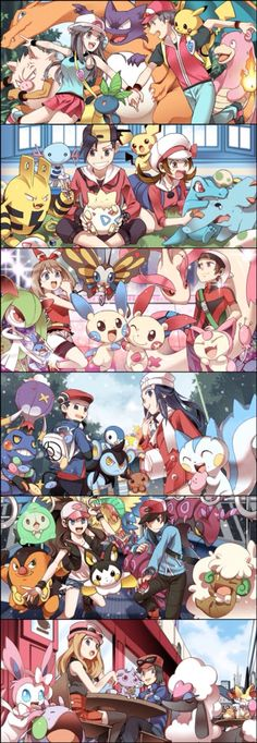 # pokemon -people always forget about the black and white 2 characters:(