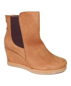 Take a look at this Beige Desiree Leather Ankle Boot on zulily today!