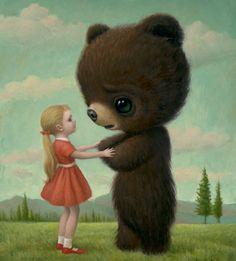 """""""Goodbye Bear"""" by Mark Ryden.  So cute and sad."""