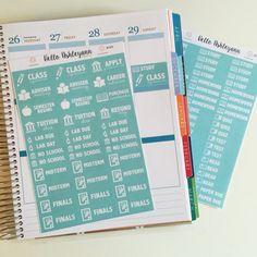 College / University Planner Sticker Kit  140 by HelloAshleyann