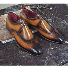 Handmade Two tone formal Shoes, Men Tan brown burnish dress shoes, derby shoes sold by Bishoo. Shop more products from Bishoo on Storenvy, the home of independent small businesses all over the world. Brown Leather Shoes, Leather Loafer Shoes, Leather Dress Shoes, Lace Up Shoes, Leather And Lace, Leather Men, Me Too Shoes, Real Leather, Oxfords