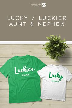 Aunt and Nephew Lucky Outfits Aunt Life St Patrick Day Auntie Gifts