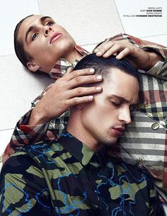 Breakthrough stars on the modelling scene Jon Herrmann at LA Models and Brayden Pritchard at Ford Models team up for MMSCENE Magazine shoot by Sharon Mor Yosef. In charge of the styling for Dirty Laundry story featured on the pages of our March 2016 issue was Apuje Kalu who selected pieces from Burberry Prorsum, Antonio Marras, John Varvatos, Dior Homme, Vivienne Westwood, Brioni, Etro, Dsquared2, Theory and Hugo Boss.