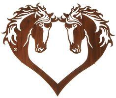 Heart of Horses Laser Cut Metal Wall Art
