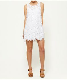 FLORAL LACE SHIFT - Dresses - Clothing