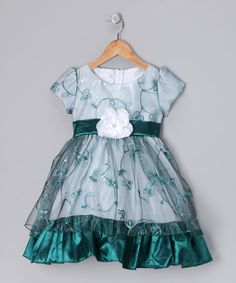 Take a look at this Emerald Embroidered Princess Dress - Infant, Toddler & Girls on zulily today!