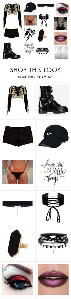"""""""werewolf teacher"""" by martina-tina-matkovic ❤ liked on Polyvore featuring beauty, For Love & Lemons, Valentino, L'Agence, Nike Golf, Tattify, 8 Other Reasons, Miss Selfridge and Jaeger"""