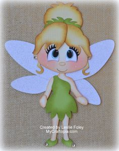 Disney Tinker Bell Fairies Premade Scrapbooking Embellishment Paper Piecing