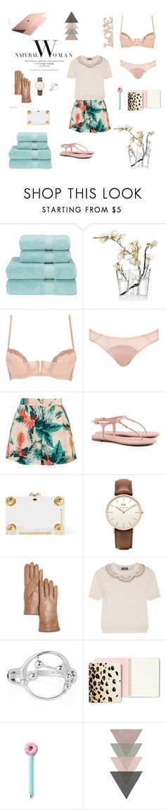 """Untitled #539"" by xocolate ❤ liked on Polyvore featuring Christy, iittala, La Perla, L'Agent By Agent Provocateur, Topshop, Tory Burch, Charlotte Olympia, Daniel Wellington, Bloomingdale's and Holly Fulton"