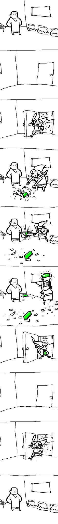 Legend of Zelda Comic ~ This is too true :) lmao xD cuz half the time breaking pots is what you do in the game the most