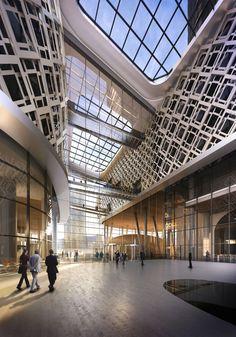 CGarchitect - Professional 3D Architectural Visualization User Community   Ziraat Bank. KPF architects. Entrance View