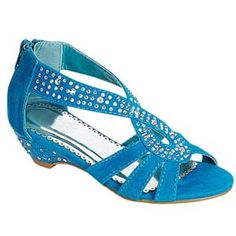 Elegant girls high heel shoes in sizes 9-4. Liberal use of rhinestones make these shoes sparkle. Our collection of little girls dress shoes are a perfect complement for a pageant or prom dress.