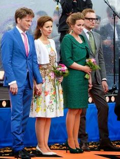 (L-R) Prince Pieter-Christiaan, Princess Anita, Princess Annette and Pricnce Bernhard attend the Koningsdag (King's Day) in Dordrecht, The Netherlands, 27 April 2015.