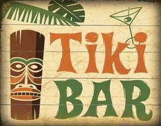 Tiki Bar Vintage Sign: Coastal Home Decor, Nautical Decor, Tropical Island Decor & Beach Furnishings Seaside Home Decor, Beach Cottage Decor, Coastal Decor, Beach House Signs, Beach Signs, Tiki Bar Signs, Tiki Art, Tiki Tiki, Vintage Tiki