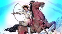 A classic, 4-issue western comic, about a Native American woman who is drawn into a life or death battle with ruthless outlaws.