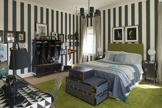 Teenage boy's bedroom: Designed by Regan Billingsley of Chevy Chase.