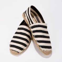 Style Impact  Striped Espadrille Slip-Ons