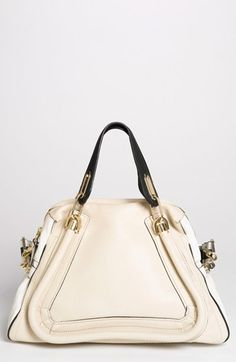 Chloé 'Military Paraty' Leather Satchel available at #Nordstrom