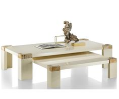 Luxe Italian Designer Ivory Horn & Lacquer Coffee Table Inspiring Interior Design Fans With Unique Luxury Hollywood Home Decor & Gift Ideas From InStyle-Decor.com Beverly Hills Enjoy & Happy Pinning