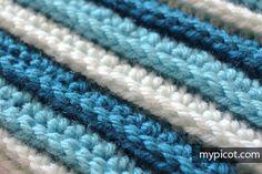 Crochet Stripe stitch | MyPicot | Free crochet patterns