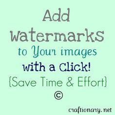 add automatic watermarks to group images and photos. From the Craftionary {DIY Crafts and Inspirations} website. Looks like a very helpful posting to help with one's own photos (aka your intellectual property). Photoshop Photography, Photography Editing, Photography Business, Photography Tutorials, Photo Editing, Watermark Photography, Photography Lessons, Photography Ideas, Travel Photography