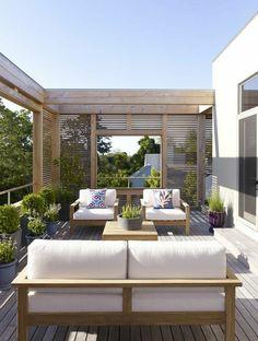 außenmöbel design polsterauflagen gebrochenes weiß pflanzen …
