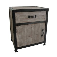 Distressed Wood One-Drawer End Table (China) | Overstock.com