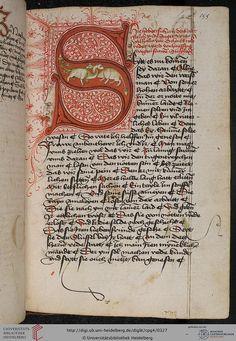 Rudolf von Ems: Willehalm von Orlens... Page 155r. Germany (Swabia) 1455-1479.