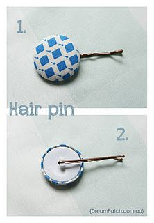 Clever Little Button Bobby Pin-- good idea