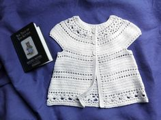 Gina - floral lace baby/child cardigan - short sleeve version