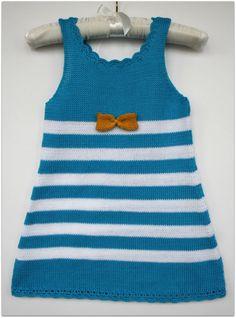 Girls dress summer Cotton Blue White by Leiladelle on Etsy, £25.50
